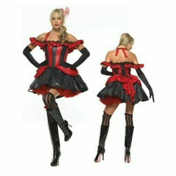NEW Sexy LARGE French Cancan Dancer Women COSTUME